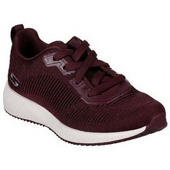 Shoes Women Low top trainers Skechers Bobs Squad Burgundy 32502 Red