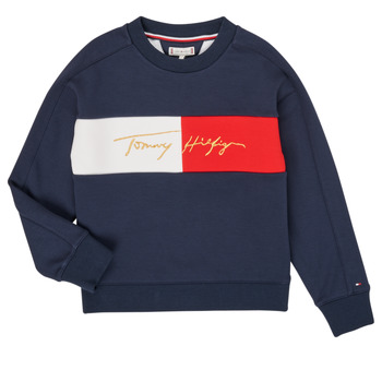Clothing Girl Sweaters Tommy Hilfiger KG0KG05497-C87-J Marine