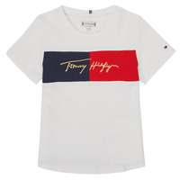 Clothing Girl Short-sleeved t-shirts Tommy Hilfiger KG0KG05511-YBR-J White