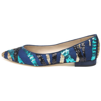 Shoes Women Flat shoes Susana Cabrera Gloria Blue sequin