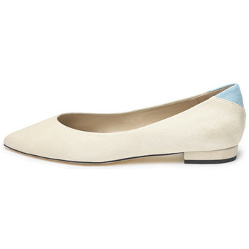 Shoes Women Flat shoes Susana Cabrera Gloria Beige with blue detail