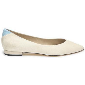 Shoes Women Flat shoes Susana Cabrera Gloria Beige with blue detail