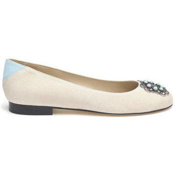 Shoes Women Flat shoes Susana Cabrera Marta Beige with blue detail
