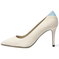 Shoes Women Heels Susana Cabrera Mia Beige with blue detail