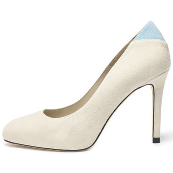 Shoes Women Heels Susana Cabrera Carmen Beige with blue detail