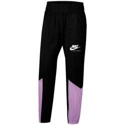 Clothing Girl Tracksuit bottoms Nike Sportswear Heritage Black,Violet