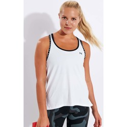 Clothing Women Tops / Sleeveless T-shirts Under Armour 4531848118339 White