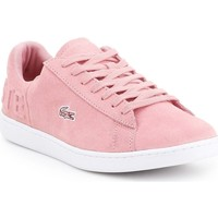 Shoes Women Low top trainers Lacoste Carnaby Evo Pink