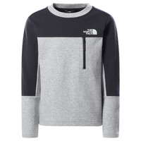 Clothing Boy Sweaters The North Face SLACKER CREW Grey
