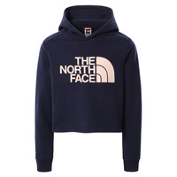 Clothing Girl Sweaters The North Face DREW PEAK CROPPED HOODIE Marine