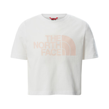 Clothing Girl Short-sleeved t-shirts The North Face EASY CROPPED TEE White