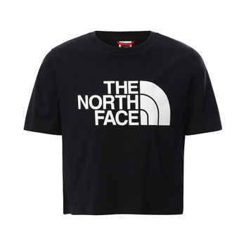 Clothing Girl Short-sleeved t-shirts The North Face EASY CROPPED TEE Black