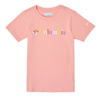 Clothing Girl Short-sleeved t-shirts Columbia SWEET PINES GRAPHIC Pink