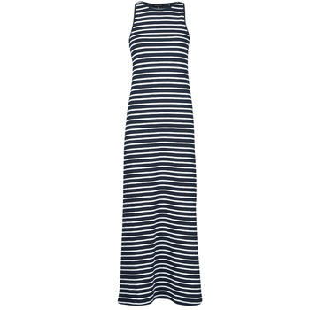 Clothing Women Long Dresses Superdry JERSEY MAXI DRESS Blue