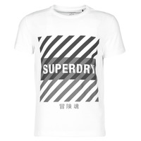 Clothing Men Short-sleeved t-shirts Superdry TRAINING CORESPORT GRAPHIC TEE White