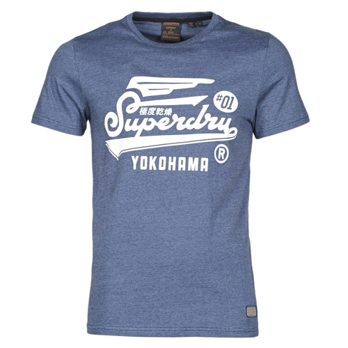 Clothing Men Short-sleeved t-shirts Superdry MILITARY GRAPHIC TEE 185 Blue