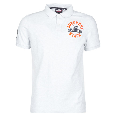 Clothing Men Short-sleeved t-shirts Superdry CLASSIC SUPERSTATE S/S POLO Grey