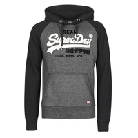Clothing Men Sweaters Superdry VL DUO RAGLAN HOOD Black