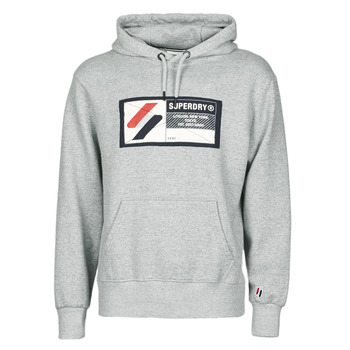 Clothing Men Sweaters Superdry SPORT JOCK TAG HOOD Grey