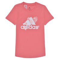 Clothing Girl Short-sleeved t-shirts adidas Performance TROPICAL BOS G Pink