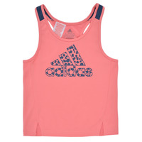 Clothing Girl Tops / Sleeveless T-shirts adidas Performance G LEO TK Pink