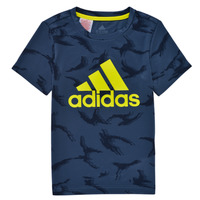 Clothing Boy Short-sleeved t-shirts adidas Performance B CAMO T Marine