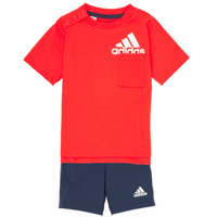 Clothing Boy Sets & Outfits adidas Performance BOS SUM  SET Red / Black