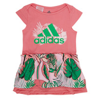 Clothing Girl Short Dresses adidas Performance FLOWER DRESS Pink