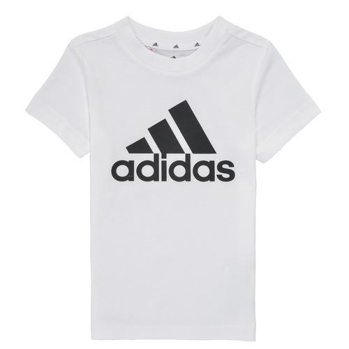 Clothing Boy Short-sleeved t-shirts adidas Performance B BL T White