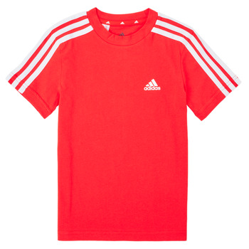 Clothing Boy Short-sleeved t-shirts adidas Performance B 3S T Red