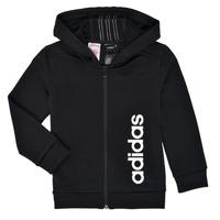 Clothing Boy Sweaters adidas Performance YB TR 3S FZ Black