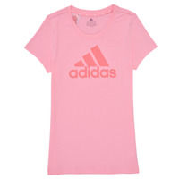Clothing Girl Short-sleeved t-shirts adidas Performance G BL T Pink