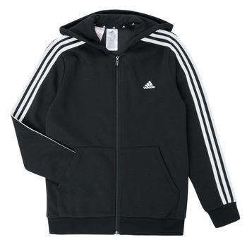 Clothing Boy Sweaters adidas Performance B 3S FZ HD Black