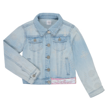 Clothing Girl Denim jackets Desigual 21SGED02-5010 Blue