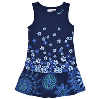 Clothing Girl Short Dresses Desigual 21SGVK04-5033 Marine