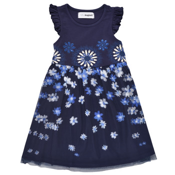 Clothing Girl Short Dresses Desigual 21SGVK30-5000 Marine