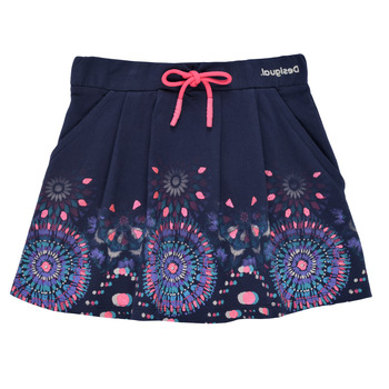Clothing Girl Skirts Desigual 21SGFK03-5000 Blue