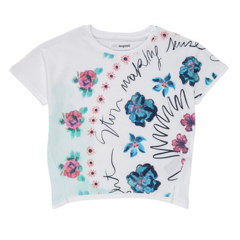 Clothing Girl Short-sleeved t-shirts Desigual 21SGTK02-1000 White
