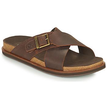 Shoes Men Mules Timberland AMALFI VIBES CROSS SLIDE Brown