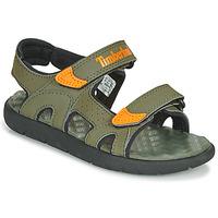 Shoes Children Sandals Timberland PERKINS ROW 2-STRAP Green / Orange