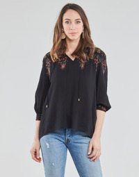 Clothing Women Tops / Blouses Desigual INDIRA Black