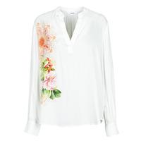 Clothing Women Shirts Desigual TIGRIS White