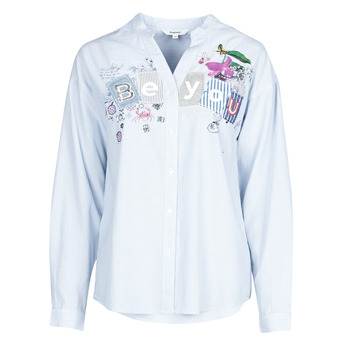 Clothing Women Shirts Desigual BEYOU Blue