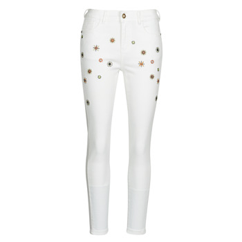 Clothing Women Slim jeans Desigual AUSTRIA White
