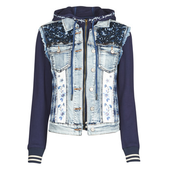 Clothing Women Denim jackets Desigual TAMAR Blue