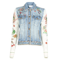 Clothing Women Denim jackets Desigual ATHLAS Blue