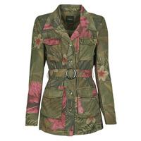 Clothing Women Jackets / Blazers Desigual CAMOASIS Kaki