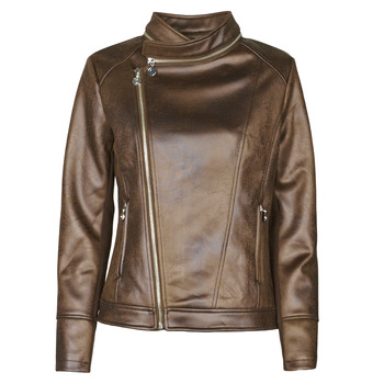 Clothing Women Leather jackets / Imitation leather Desigual CARNABY STREET Brown