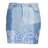 Clothing Women Skirts Desigual BE BLUE Blue