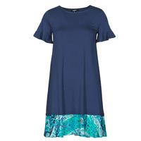 Clothing Women Short Dresses Desigual KALI Marine
